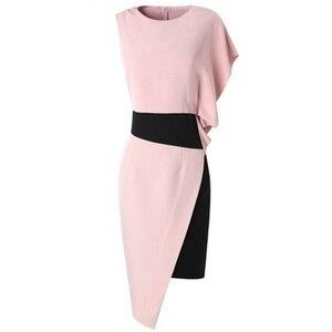 Image 4 - 2019 新優れた品質女性パーティードレスプラスサイズ女性のセクシーなファッションノベルティドレス非対称ノースリーブヴィンテージドレス