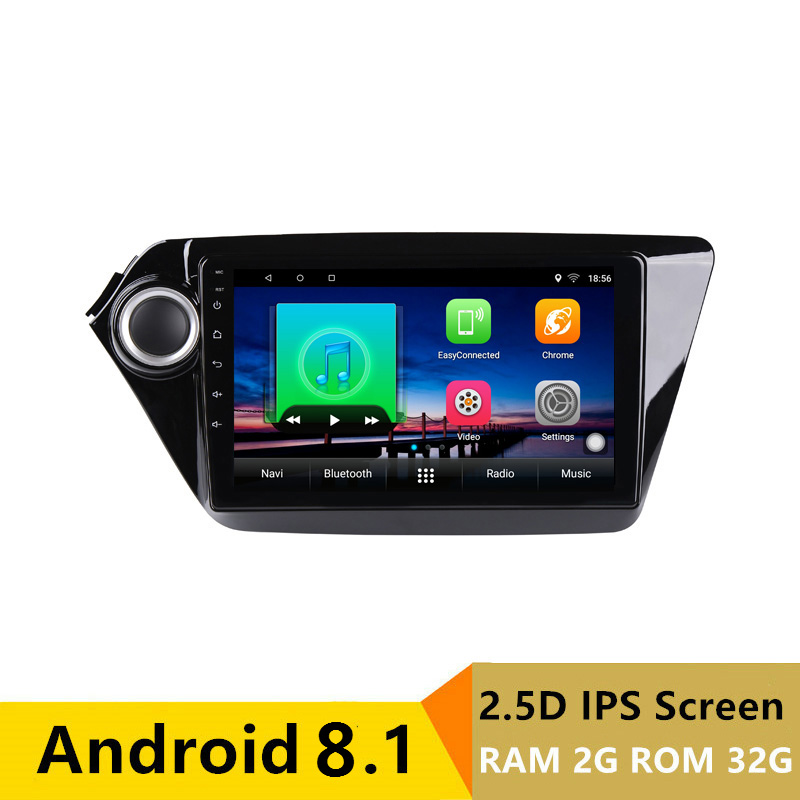 2G RAM 32G ROM Android Car DVD Player GPS for Kia Rio K2 2012 2013 to 2015 audio car radio stereo navigator with bluetooth wifi