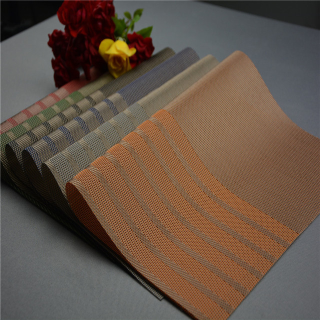 New Fashion Hotel Vintage Pvc Placemats Clics Rectangle Placemat For Dining Table Mat Dark Color Plastic