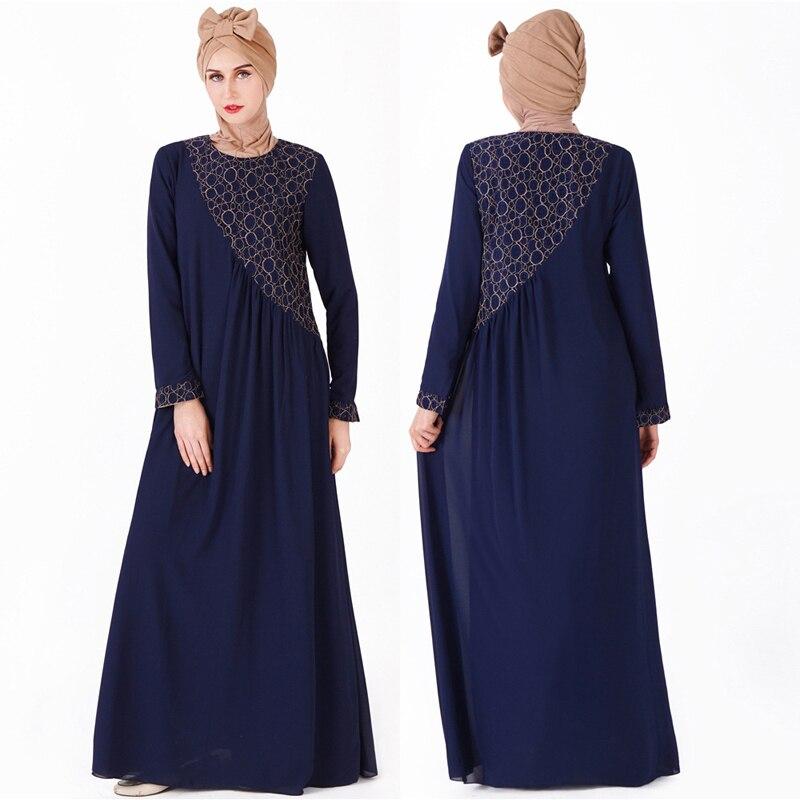 Mode Robe musulmane Abaya islamique dubaï vêtements pour femmes malaisie Robe musulmane turque caftan dentelle tunique longue Robe