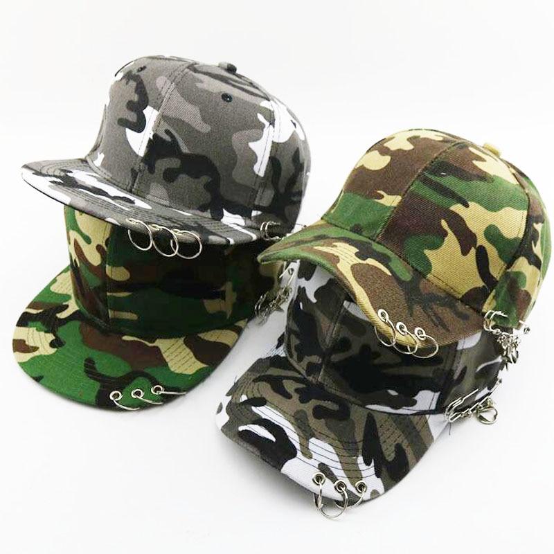 Casquette Camouflage Hats For Men Women Iron ring   Baseball     Cap   Outdoor Sun protection Hip-hop Hats Army Camo Snapback Dad   Cap