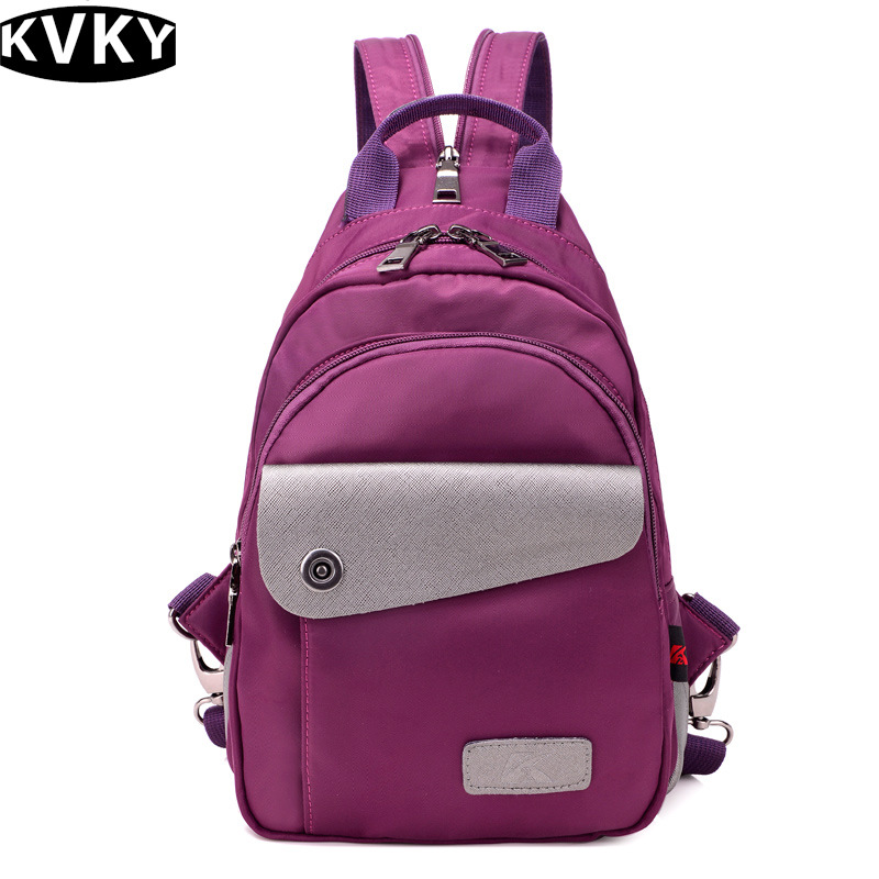 KVKY New Woman Nylon Backpack Women's Backpacks For Teenager Girls Nylon School Bag Rucksack Travel Bags Mochilas Feminina WH451