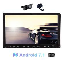 2 Din Android 7.1 Car Stereo Autoradio Bluetooth DVD GPS Navigation,Wifi,1080P Video,Free Dual Camera optional 3G/4G/DAB/OBD2