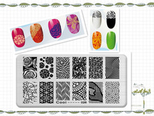 Various Arabesque Pattern DIY Manicure Nail Art Stamp Template Image Plate Rctangular Stamping PLates Set Beauty Polish Tools