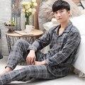 330130/Outono/roupas Para Casa/homem/Pijama de algodão puro/Loose/Confortável/soft/Respirável/tecidos de qualidade