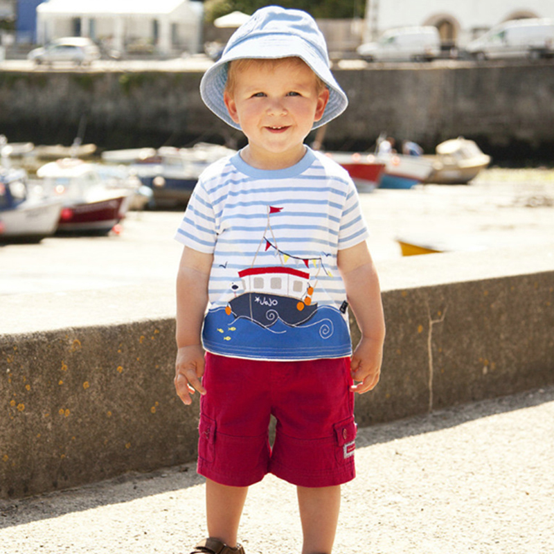 Bear Leader Boys T-Shirt 2018 New Brand Animal Pattern Style Sunmmer Short Sleeve Boys Clothes T-Shirt For 18 Month-6 Year red stripe pattern loose fit t shirt page 6
