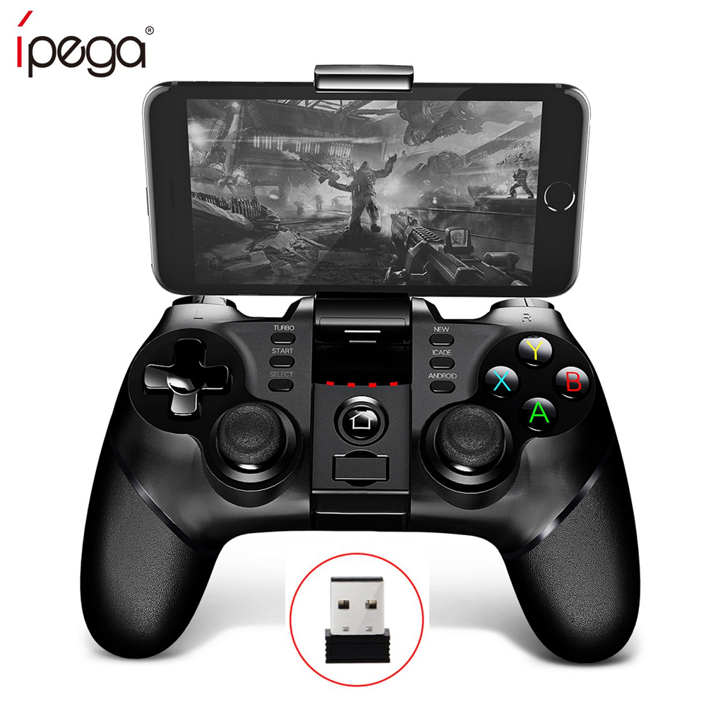 iPega 9076 PG-9076 Bluetooth Gamepad USB joystick with Bracket 2.4G Wireless Receiver Game Controller for Android,IOS,PC,PS3