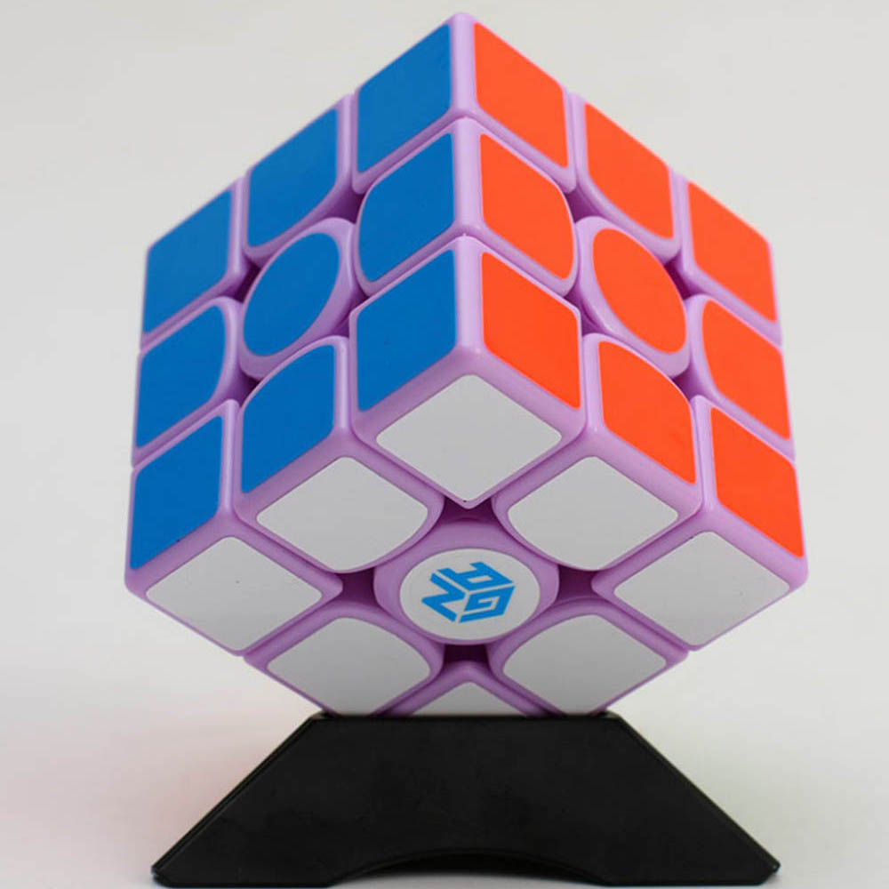 Gan 356 Air Macaron Purple Limited Edition 3*3*3 Magic Cube Speed Cube Competition Puzzle Educational Toys for Children cube style verypuzzle clover octahedron puzzle limited edition twisty puzzle educational toys magic cube