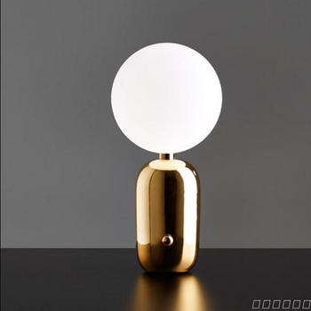 Modern Simple Creative Table Lamps Glass Ball Iron Material Table Lamps Living Room Model Room Restaurant Tearoom Table Lamps
