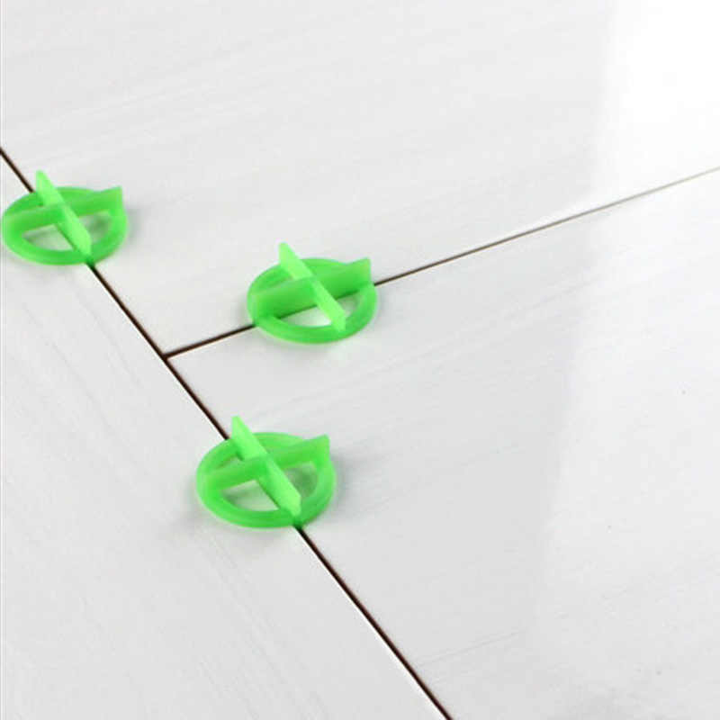 100pcs Green Cross Tile Leveling Recyclable Plastic Tile Leveling System Base Spacer JDH99