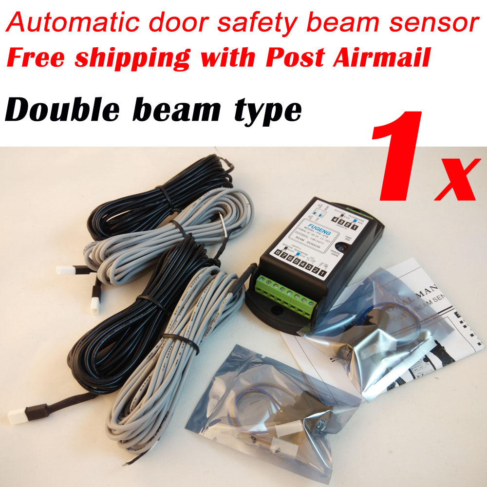 Free Post Airmail Shipping Double beam type automatic door safety beam sensor FG-218 free shipping 50pcs lot 24ghz type automatic door microwave sensor lt s24a black and silver color