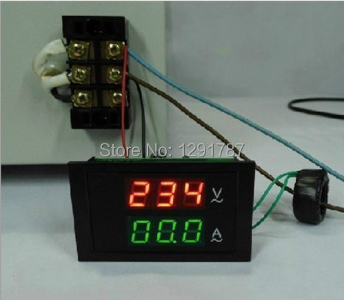 10PCS AC 100 300V 110V 220V 0 100A Led volt amp meter voltage meter current meter