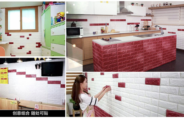 DIY Self Adhesive 3D Brick Wall Stickers