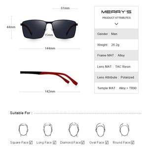 Image 3 - MERRYS デザイン男性クラシック長方形サングラス HD 用の偏光サングラス駆動 TR90 脚 UV400 保護 S8380