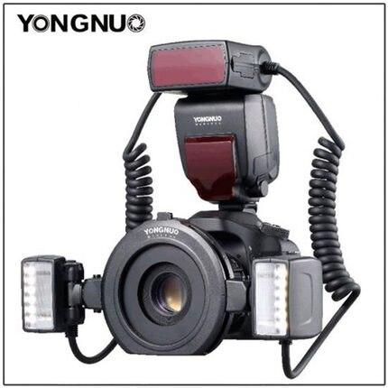 Yongnuo YN24EX E TTL Macro Flash Speedlite pour Canon EOS 1Dx 5D3 6D 7D 70D 80D Caméras avec 2 pièces Tête de Flash + 4 pièces Bagues Adaptatrices-in Clignote from Electronique    1