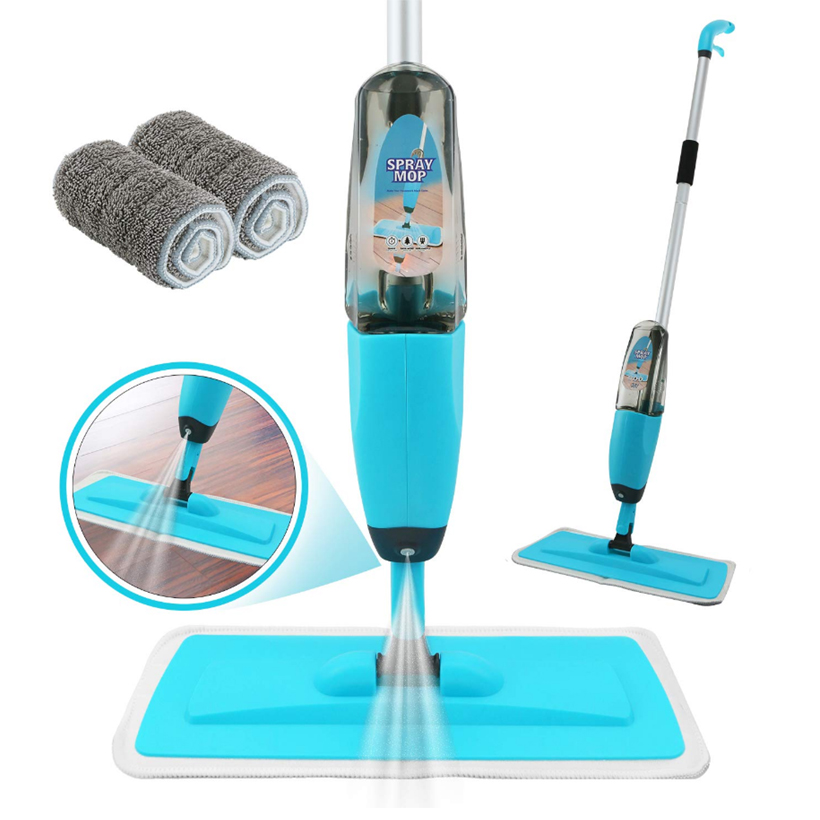 Spray Mop Kit Strongest Heaviest Duty Mop Set 360 Spin Microfiber Mop with Integrated Sprayer Home Spray Floor Mop D30
