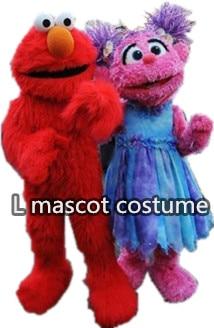 Szezám utcai piros Elmo és kék cookie szörny Mascot jelmezek - Jelmezek