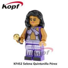 Super Heroes Egyszeri eladó Selena Quintanilla Perez Popeye Freddie Mercury Mr.Bean tégla építőelemek Gyermek Ajándéktárgyak KF452