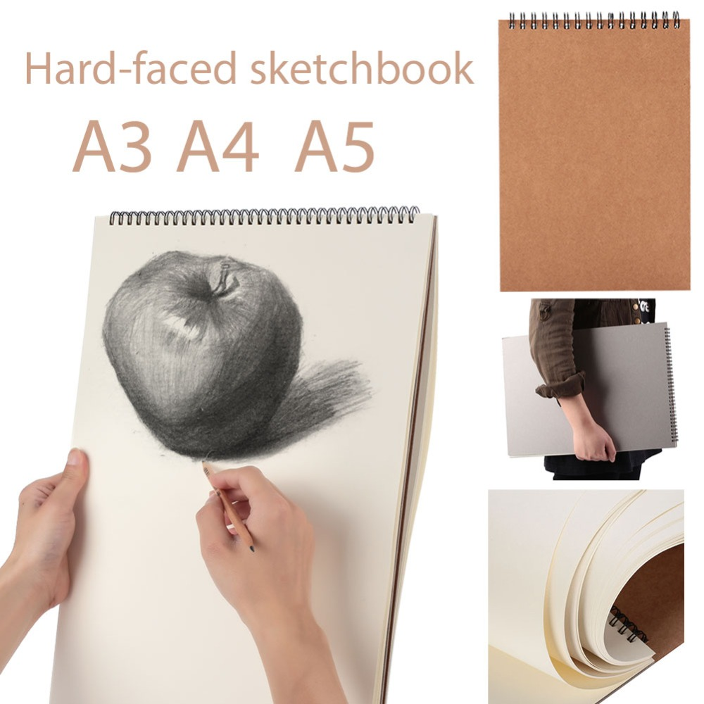 30 Sheet A3 A4 A5 Painting Sketch Book Art Supplies Sketch Painting Paper Books Hard Cover Drawing Book Stationery School Supply