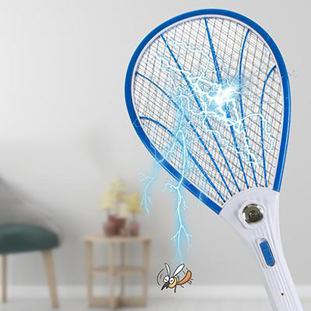 2019 New Mosquito Swatter Killer Household  Electric Tennis Bat Handheld Racket Insect Fly Bug Wasp