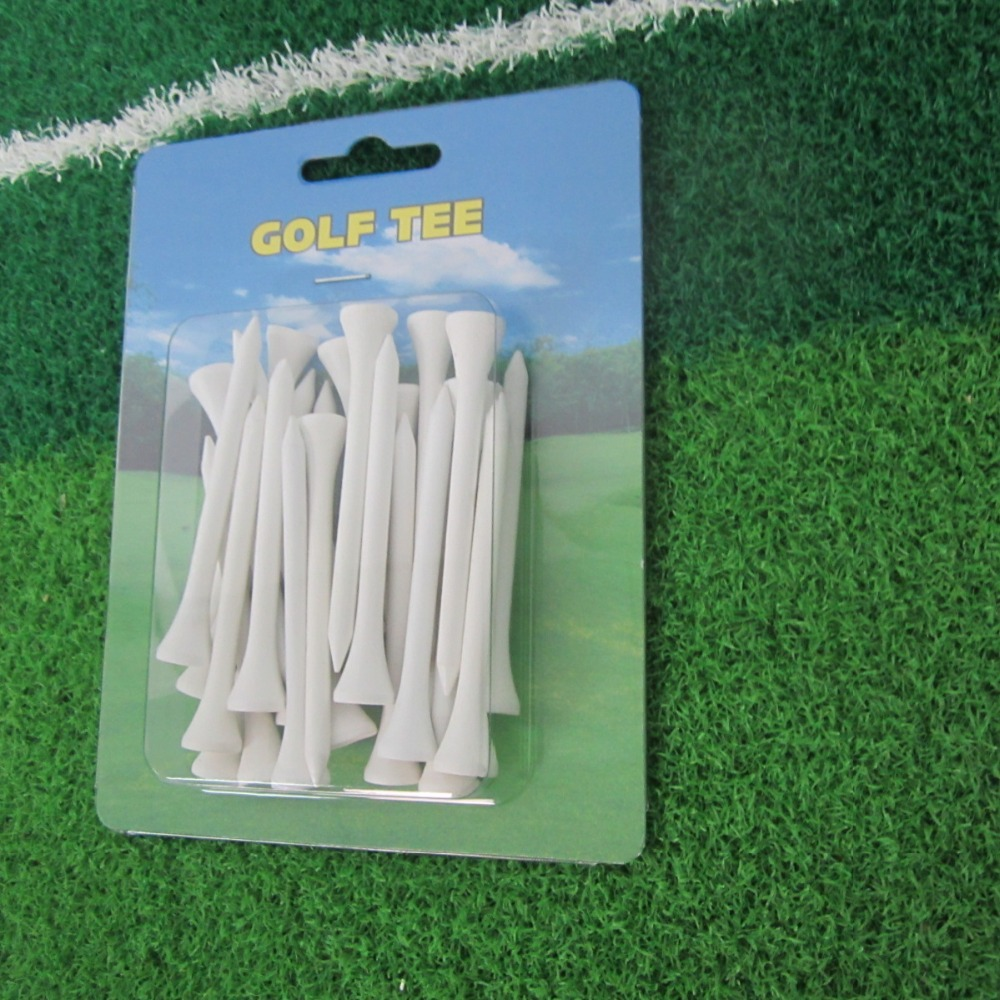 25 wooden golf tees in one personalized blister card packaging