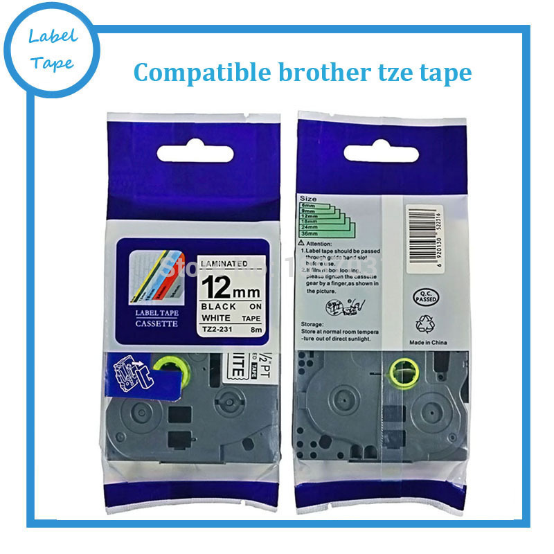 Tze 231 Tze 231 Label Maker Tape 12mm Compatible For