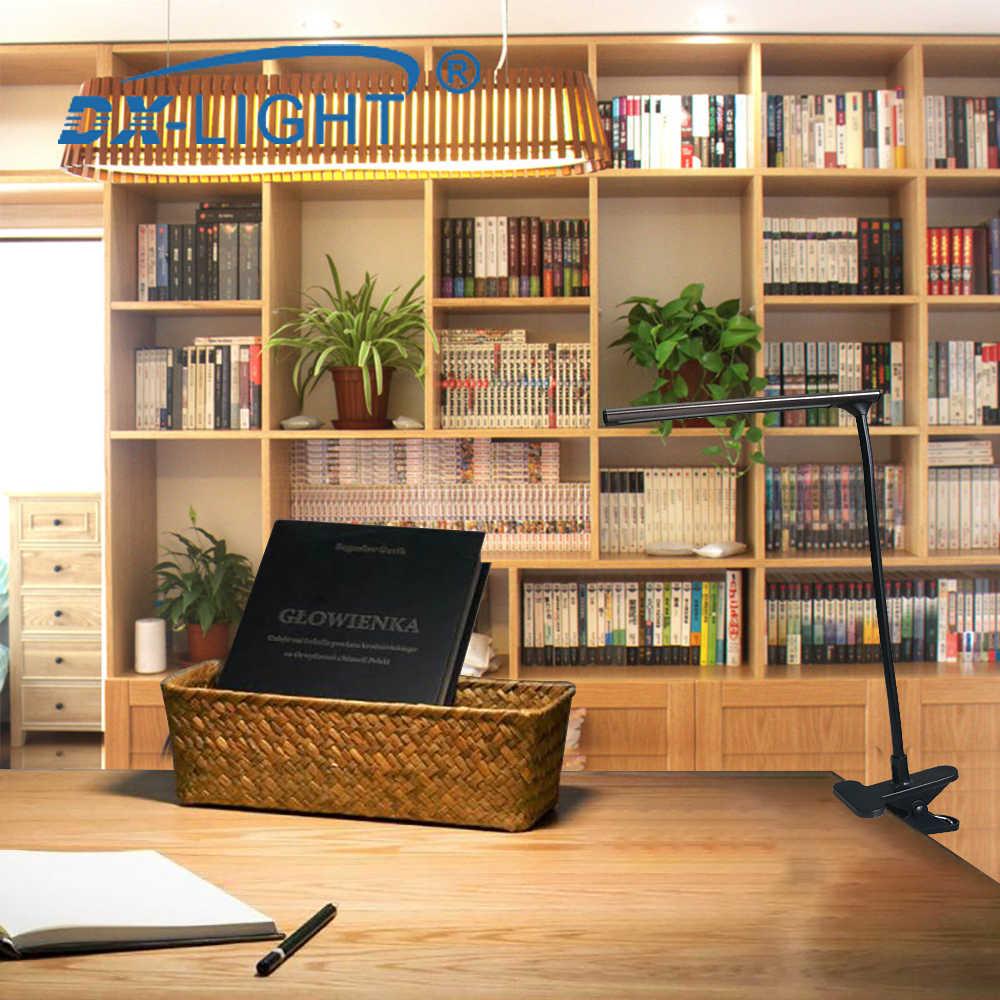 DC 5 V LED テーブルランプ USB 読書ランプブラック/コーヒーオプションブックライト LED クリップランプのためのラップトップ帳読書