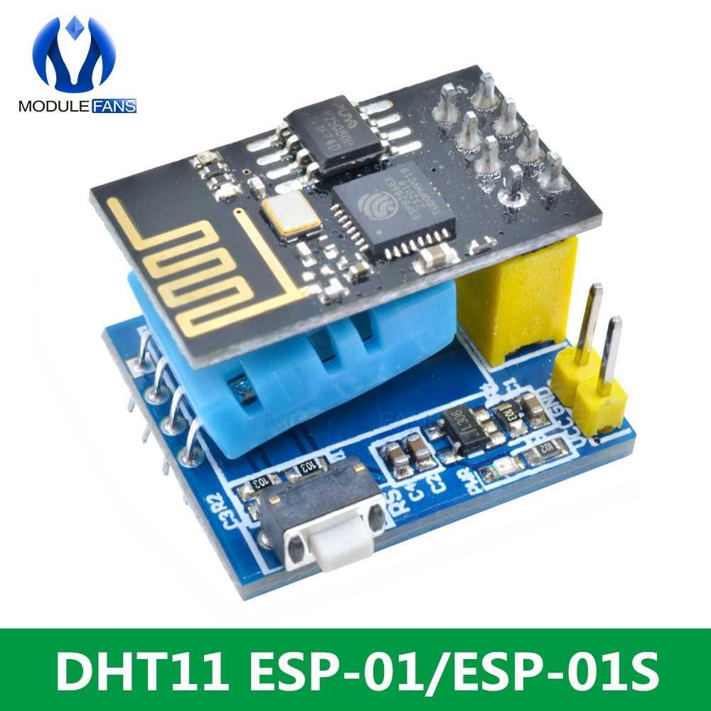 ESP8266 ESP-01/ESP-01S DHT11 Serial โมดูลอุณหภูมิความชื้นเซนเซอร์ Transceiver สำหรับ Arduino NodeMCU WIFI ไร้สาย