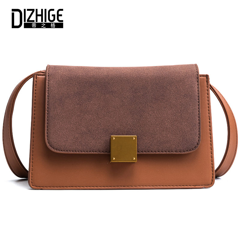 DIZHIGE Brand Fashion Patchwork Crossbody Bags For Women Messenger Bag Ladies Flap Female Shoulder Famous Brands Designer 2018 famous messenger bags for women fashion crossbody bags brand designer women shoulder bags bolosa