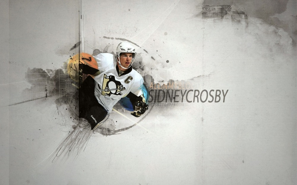 C02 Oem Sidney Crosby Pittsburgh Penguins Nhl Print Hd Wall Wallpaper Stickers Mural Art Home Customized