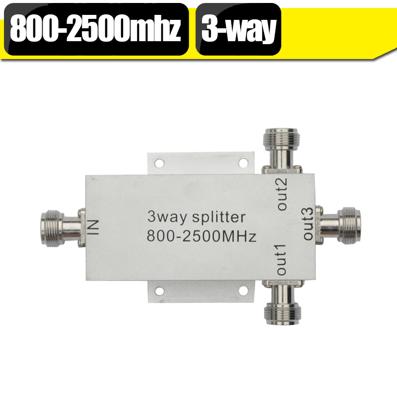 3 Way Power Splitter Low Loss 800-2500mhz Microstrip Power Divider For GSM 3G Cell Phone Signal Booster Repeater