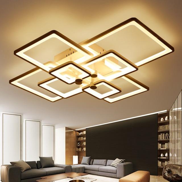 Nieuwe Vierkante ringen Designer Moderne Led Plafond verlichting ...