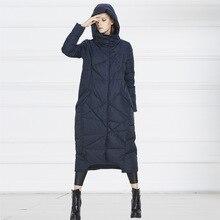 Luxury 2016 Down Coat Female Winter Jacket Women White Duck Down Parka Thicken Hooded X-long Fashion Plus Size Outerwear Warm
