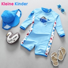 купить Boys One Piece Swimsuit UV Swimwear Cartoon Whale Swimming Suit for Kids Baby Boy Bathing Suits Children Swimming Clothes upf 50 дешево
