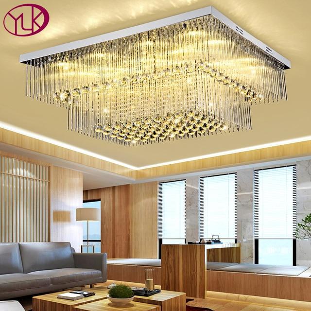 Perfekt Neue Moderne 2 Schichten Rechteck Kristall Lampe Wohnzimmer Schlafzimmer  Kristall Deckenleuchten LED Glanz Cristal Hause Leuchte