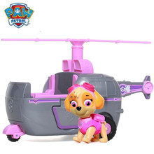 Genuine Paw Patrol Skye High Flyin Copter works with Patroller Puppy Dog Car Action Figure Patrulla Canina Toys,Kids Toy