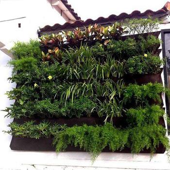 Czarna powiększająca torba sadzarka zewnętrzna pionowa ściana wisząca rosnąca doniczka torba do sadzenia ogród sadzonka szklarnia Jardim pionowa sadzarka tanie i dobre opinie SAFEBET Rozwijaj torby Non-woven fabric YUAN117 Combination hanging basin wall-mounted Planting Bags