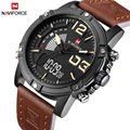 Топ люксовый бренд NAVIFORCE мужские спортивные часы мужские кожаные кварцевые аналоговые светодиодные часы мужские военные наручные часы Relogio...