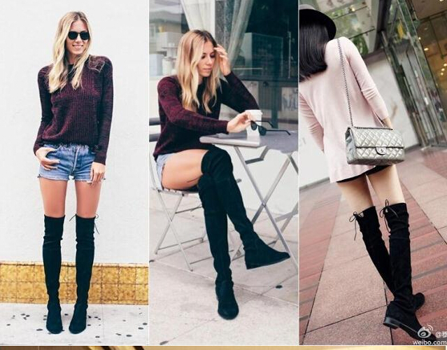 Aliexpress.com : Buy Fashion Womens Stretchy Over The Knee Lace Up ...