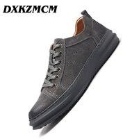 DXKZMCM Male Shoes Adult Men Casual Shoes Loafers Men Footwear Quality Suede Leather Shoes Men Flats