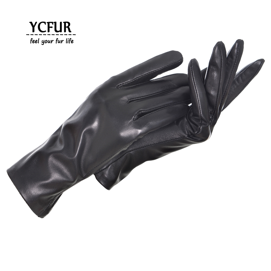 Genuine Leather Gloves Wome Winter Glove Female Warm Soft Re