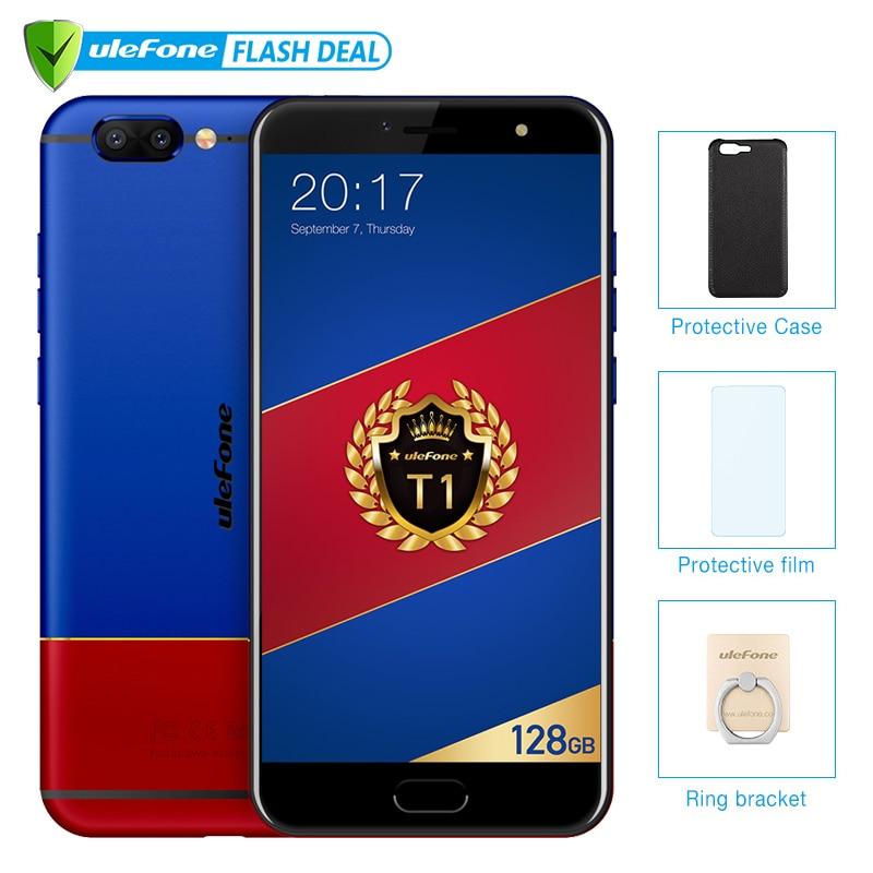 Ulefone T1 Édition Premium 6 gb + 128 gb 5.5 FHD Helio P25 Octa Noyau Mobile Téléphone Android 7.0 d'empreintes digitales 4g Mondial version