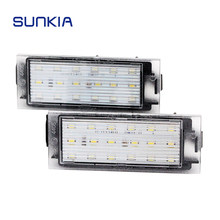 SUNKIA Car LED License Plate Light For Renault Megane 2 Clio Laguna 2 Megane 3 Twingo Master Vel Satis Opel Movano Number Lamps(China)