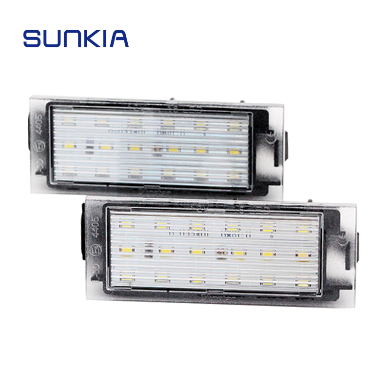 SUNKIA Car <font><b>LED</b></font> License Plate Light For <font><b>Renault</b></font> Megane 2 Clio Laguna 2 Megane 3 Twingo Master Vel Satis Opel Movano Number <font><b>Lamps</b></font> image