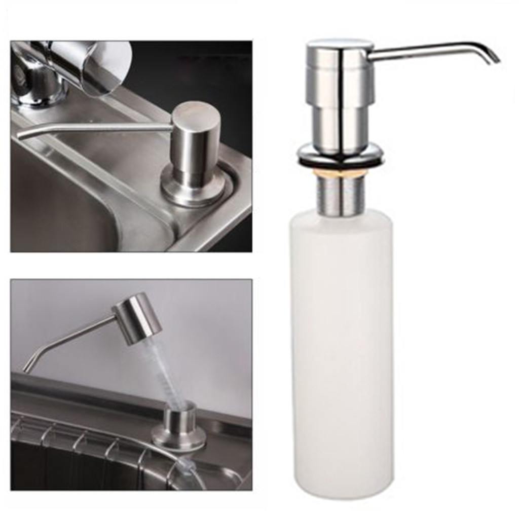 US $1.72 15% OFF|Kitchen Sink Soap Dispenser Abs Plastic Built In Lotion  Pump Plastic Bottle For Bathroom And Kitchen Liquid Soap Organize 64p on ...