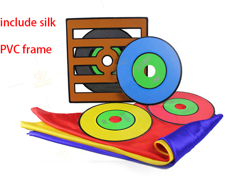 Magic Professional Color Changing CD Stage Magic Tricks for Magicians Close Up Magic Props,PVC frame
