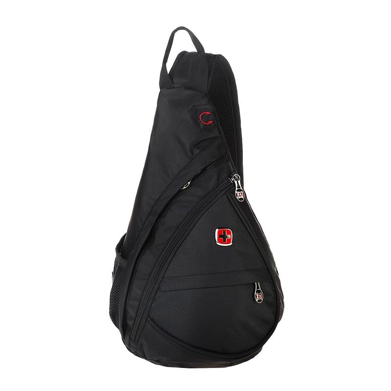 swiss Messenger Bags Men Single Shoulder Bag gear Fashion Women Chest Pockets Nylon Travel Small Sling Bags For iPad Mini sa9966 casual canvas satchel men sling bag