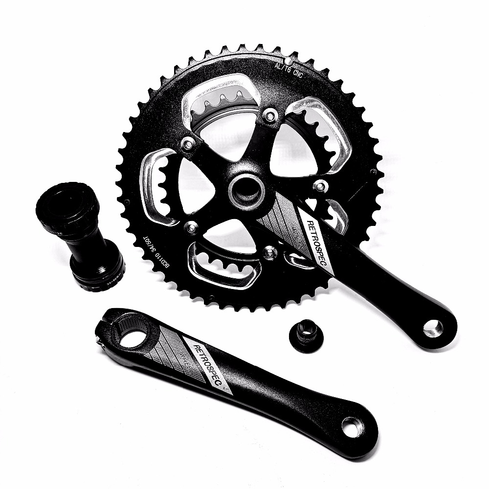 34 50T aluminum Bicycle bike Crank Chainwheel teeth plate alloy CNC hollow one folding two large