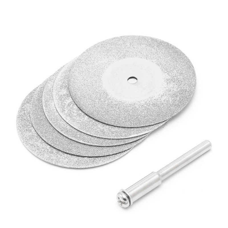 5 ชิ้น/ล็อต Dremel อุปกรณ์เสริมใบเลื่อยวงกลมตัด Dremel โรตารี่เครื่องมือเพชรแผ่น