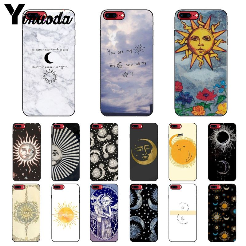 Half-wrapped Case Phone Bags & Cases Yinuoda Sun And Moon Diy Printing Drawing Phone Case Cover Shell For Iphone X Xs Max 6 6s 7 7plus 8 8plus 5 5s Se Xr Unequal In Performance